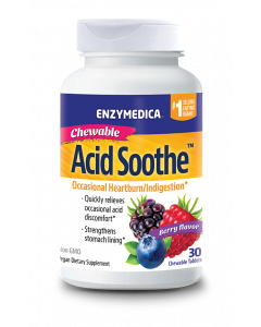 Enzymedica Acid Soothe Berry Chewable, 30 tb.