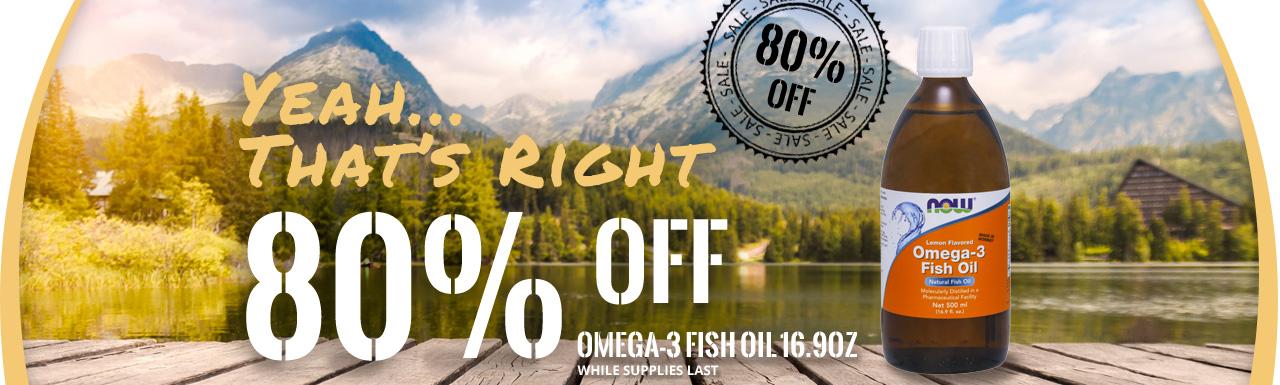 Omega-3 80% OFF