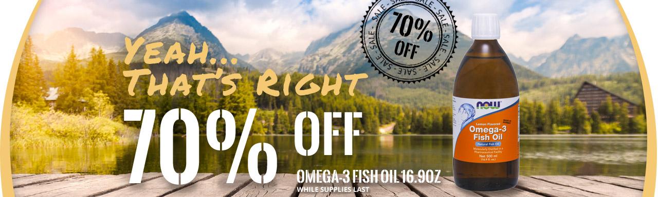 Omega-3 70% OFF
