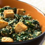 KETO Tofu Spinach Bowl