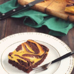 Pumpkin Marbled Brownies | Gluten-Free